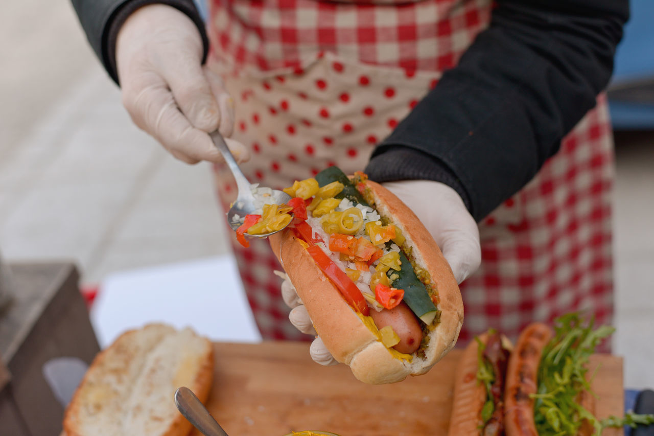 Best  Close-up Cropped Fast Food Focus On Foreground Food Food And Drink Freshness Holding Hot Dog Hot Dogs Hot Doog Indulgence Leisure Activity Lifestyles Men Part Of Person Pop Up Preparation  Ready-to-eat Show Us Your Takeaway! Street Food Worldwide Street Food Unhealthy Eating