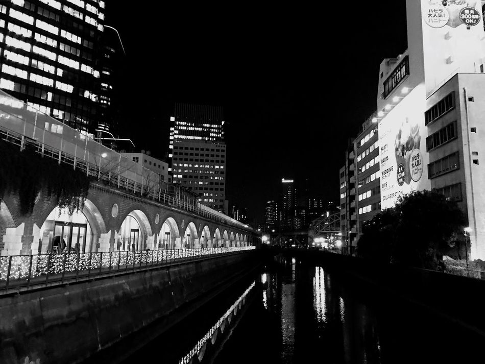 Canal Architecture Built Structure Building Exterior Water City Transportation Illuminated Night Canal Connection No People Outdoors Bridge - Man Made Structure