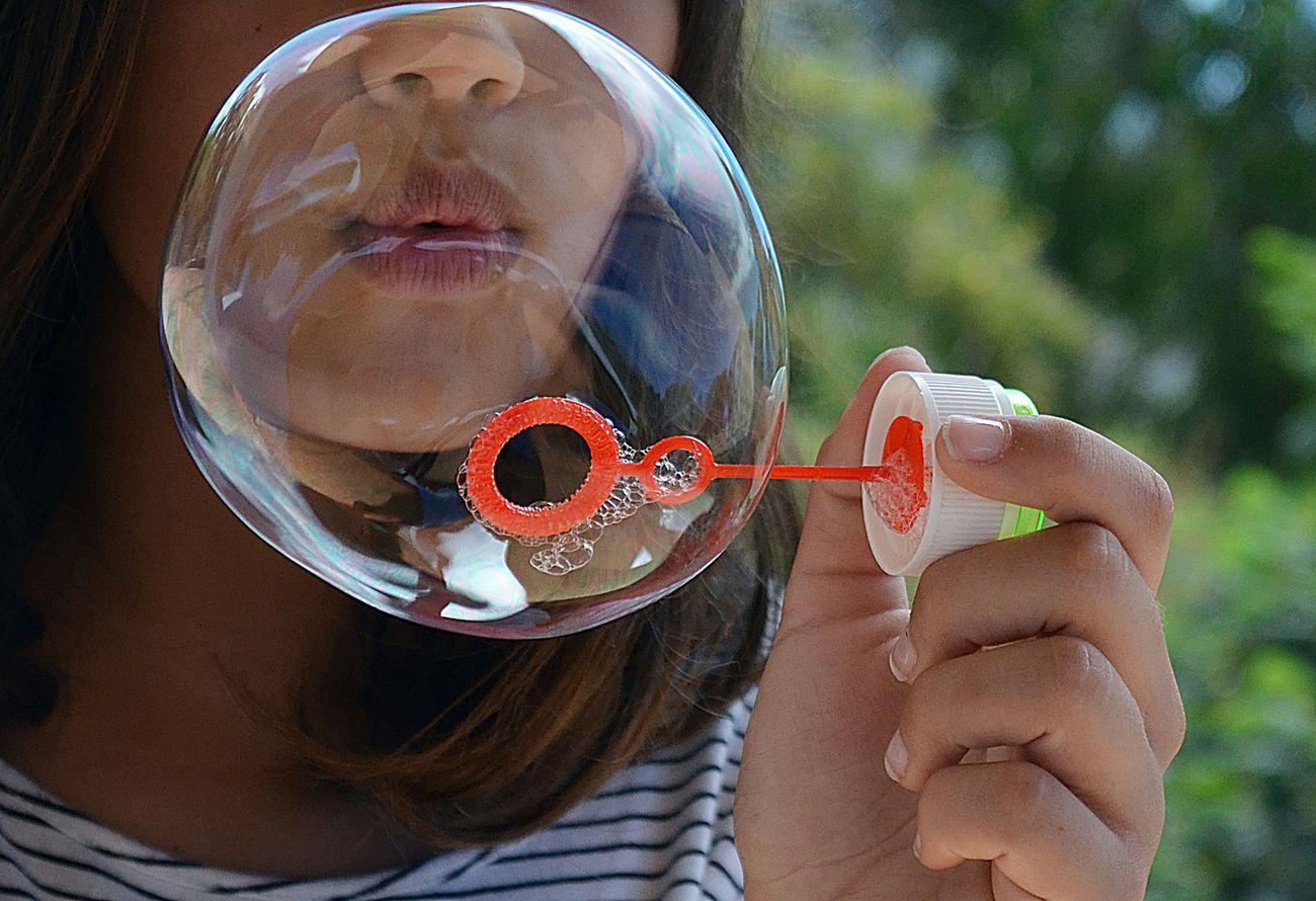 Bubbles Colourful Niñez Pompas De Jabón Juegos Girl Capture_today