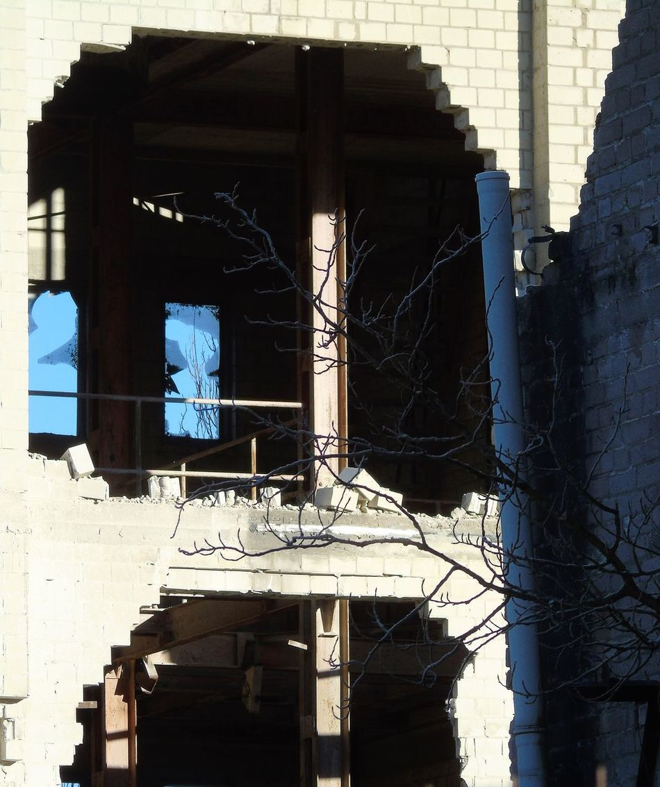 Abandoned Buildings Abandoned Places Architecture Building Exterior Built Structure City Day Erkrath Frosty Day Low Angle View My Oint Of View No People On My Way Outdoors Sky