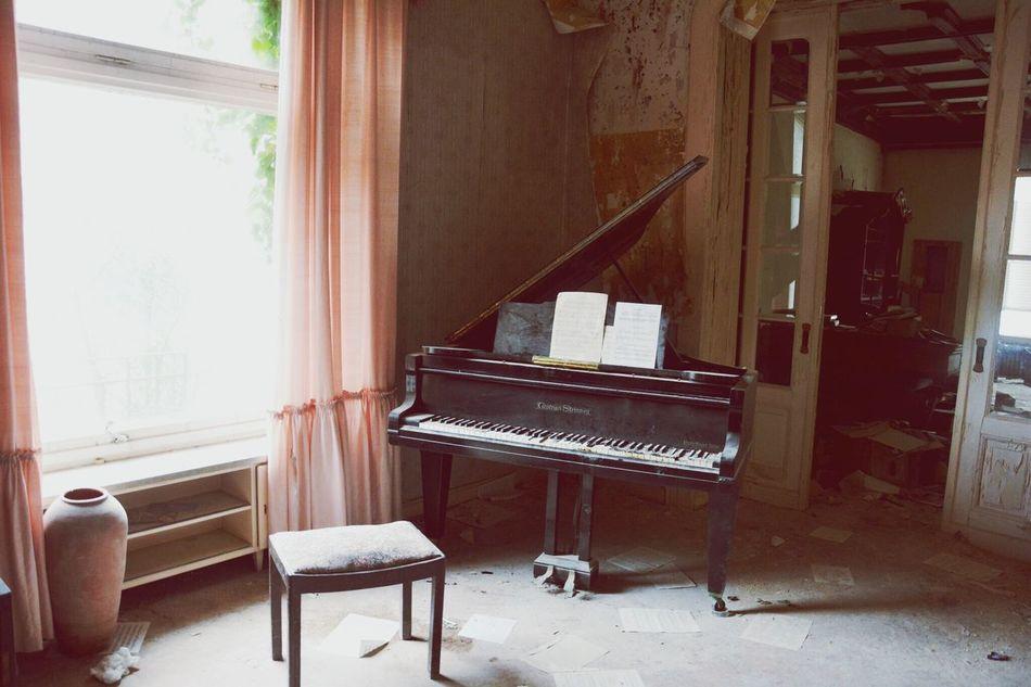 Dr. Anna's House Urbex Urbexing Urbexphotography Lostplaces Lost Places Flügel Kaputter Flügel Klavier Piano