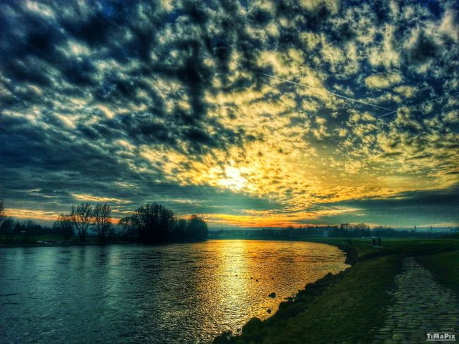 HDR Sunset Dresden Sun And Clouds