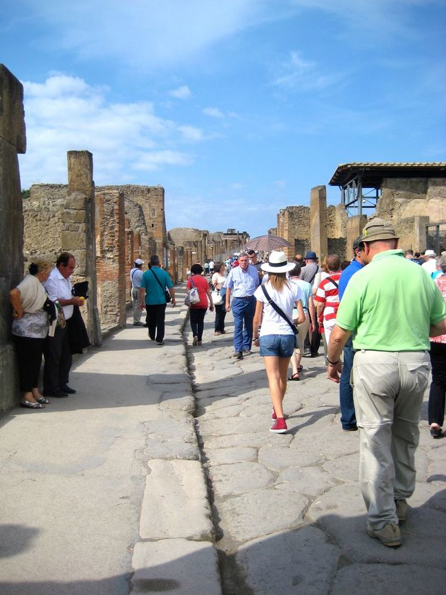 Adult Ancient Civilization Architecture Building Exterior Built Structure Casual Clothing Day Large Group Of People Leisure Activity Lifestyles Men Outdoors People Real People Rear View Sky Sunlight Walking Women Pompeii  Italy🇮🇹 ScaviDiPompei Second Acts