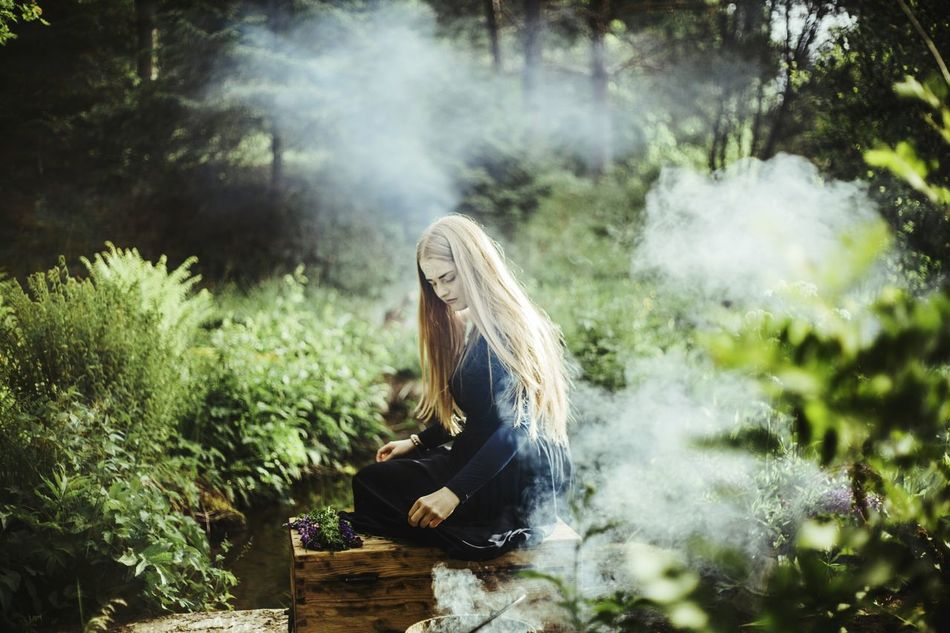 Beautiful stock photos of fairy,  20-24 Years,  Beauty In Nature,  Blond Hair,  Blue