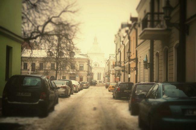 Street Winter Moody Zeromskiego Zamość Snow Dirty Grunge Outdoors