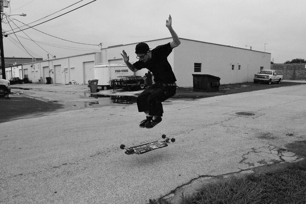 Lauderdalebythesea Blackandwhite Streetphotography Urban Struggle Skateboarding
