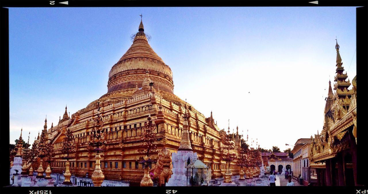 Shwezigon Pagoda Beautiful Myanmar Sunset_collection