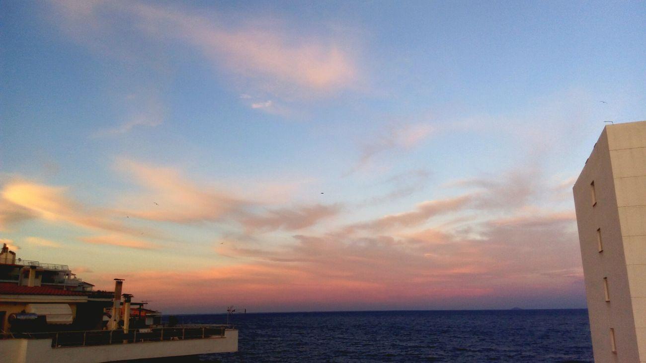 Sunset Beach Horizon Over Water Scenics Canvas