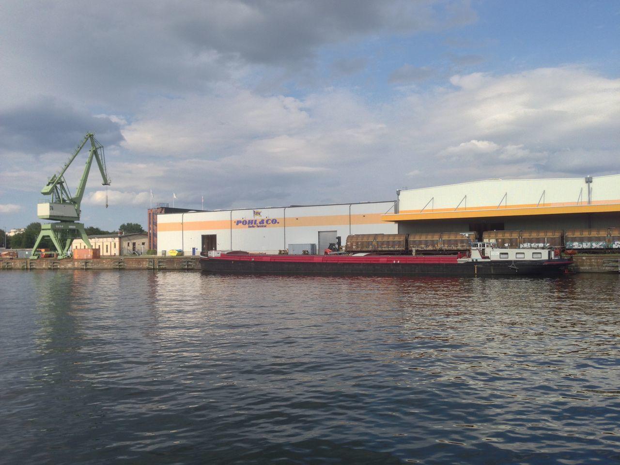 Crane Harbour Warehouse Boat Goods
