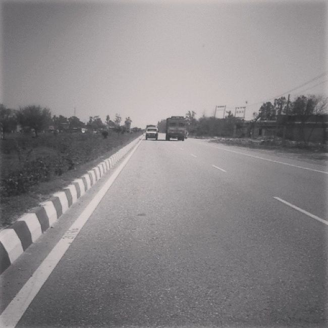 Highway Plain Straight Indianroads Tour Goldythakur Streets India Nationalhighways