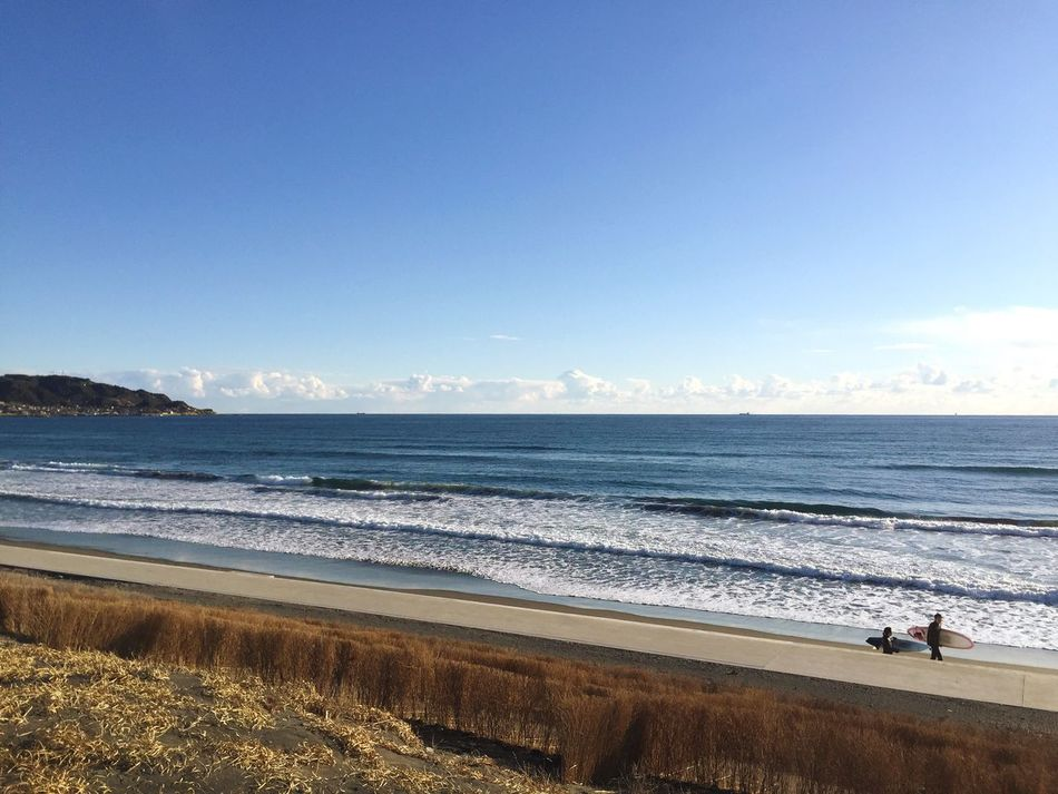 Let's call it a day. Sea Water Beach Nature Beauty In Nature Horizon Over Water Scenics Sand Sky Outdoors Day Tranquility Wave Surfingphotography Beach Life Hobbies Japan Surfing Japan Clear Sky