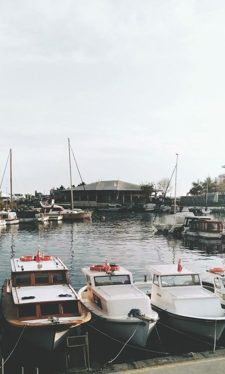 Water Nautical Vessel No People Day Outdoors Sky Moored Harbor Marina Boat Boats⛵️ Sea Seaside Deniz Ataköy Marina Atakoy Tekneler Tekne Yatch Yat First Eyeem Photo