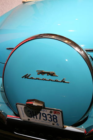 1940s 1950s Blue Car Day Low Angle View Monarch No People Outdoors Retro Rockabilly Sky Text Turquoise Vintage Vintage Cars