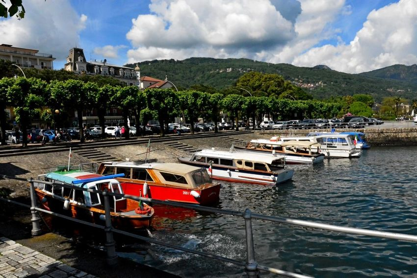 Stresa Italy Architecture Building Exterior Built Structure Cloud - Sky Day Mode Of Transport Moored Mountain Nature Nautical Vessel No People Outdoors Sky Transportation Travel Destinations Tree Water Waterfront