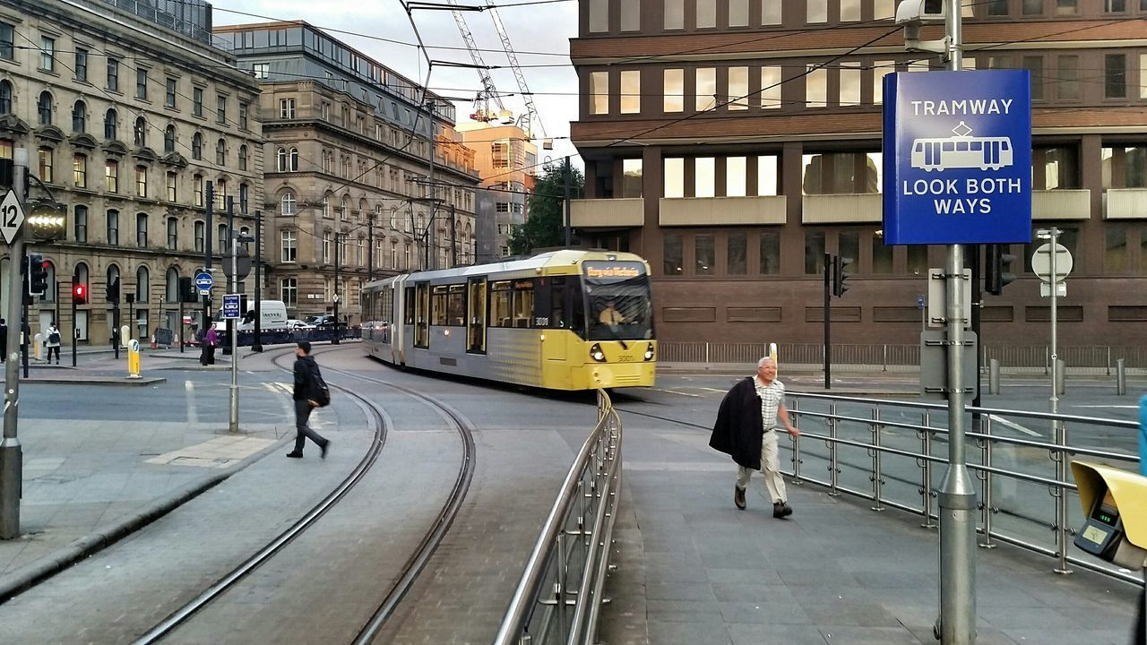 Piccadilly Gardens Manchester Tram