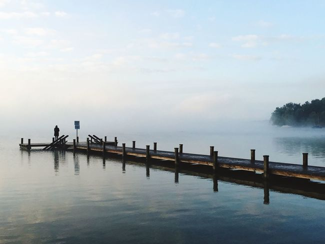 People And Places Water Tranquil Scene Sea Tranquility Scenics Pier Horizon Over Water Waterfront Idyllic Jetty Lake Of Starnberg Starnberger See Sky Cloud Long Beauty In Nature Ocean Nature Solitude Majestic Narrow