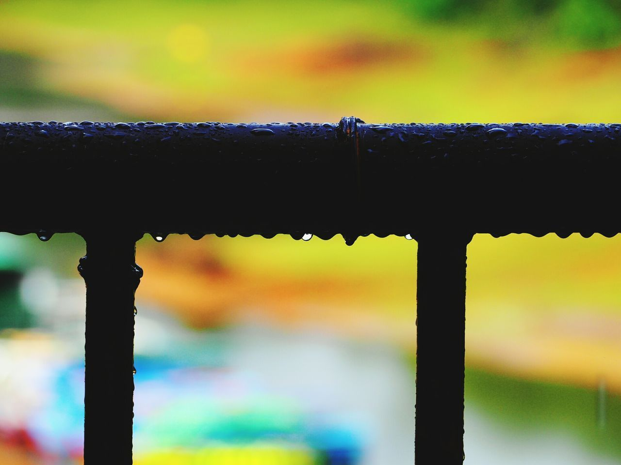 focus on foreground, metal, close-up, day, no people, water, drop, outdoors, rusty, dripping
