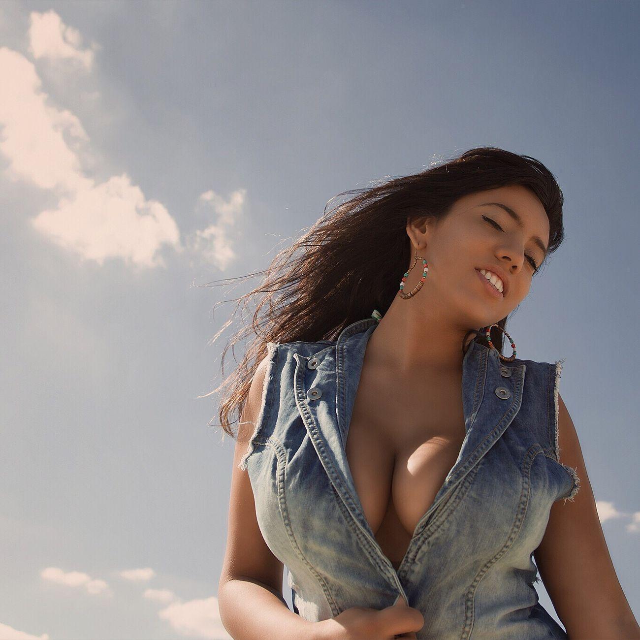 Beach Blu Sky Model Braziliangirl Jeans