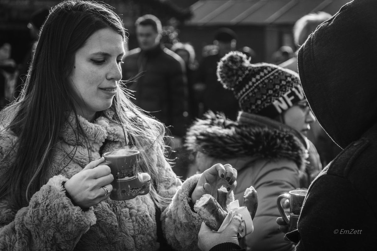 Black & White Tidbits Up Close Street Photography Viena Wien X-MAS MARKET