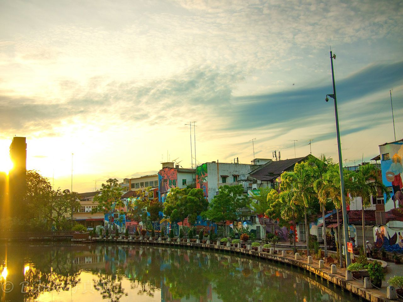 Sky Tree Cityscape Nature Water Outdoors Urban Skyline Cloud - Sky City No People Day Sunrise Sunrise And Clouds Colorful Houses Hope Dramatic Sky Dramatic Landscape Lightning Reflections In The Water Landscape Photography Street Photography Colour Awesome_view