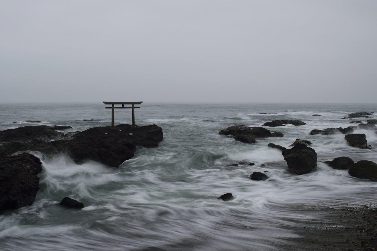 大洗神磯鳥居 Sea Seascape