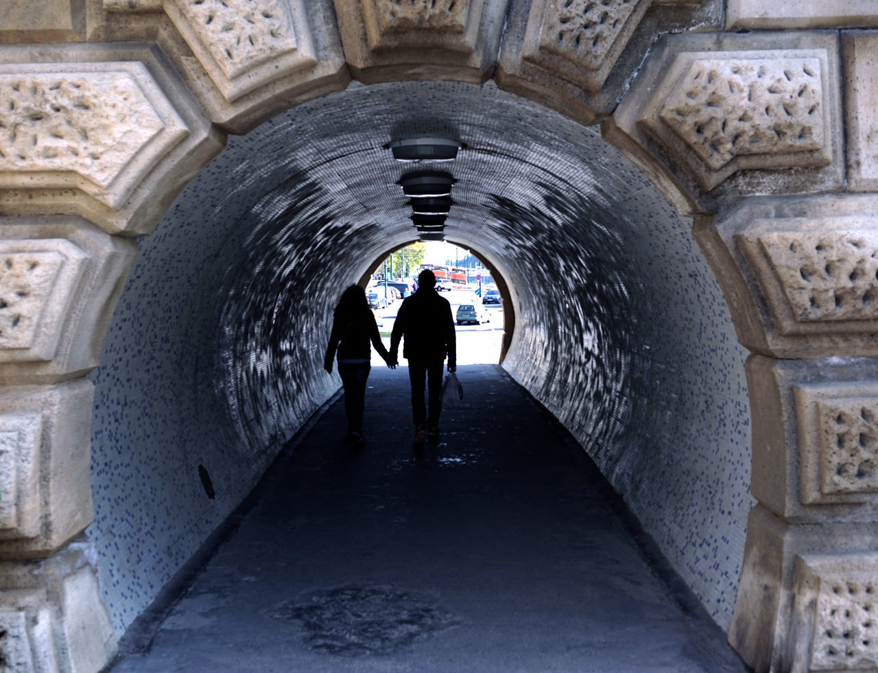 On the Danube [Budapest] // Tunnel of Love // Sony a6000 Adult Arch Architecture Budapest Budapest, Hungary Built Structure Couple Full Length Holding Hands Lifestyles Light At The End Of The Tunnel Love People Real People Rear View Relationship Silhouette This Week On Eyeem Tourism Travel Destinations Tunnel Two People Walking Let's Go. Together.