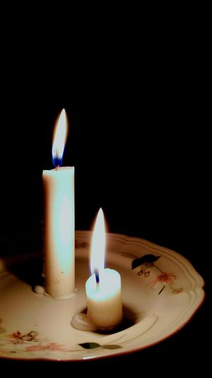 Flame Candle Burning Black Background Illuminated Close-up Night No People Indoors  Electricityoff