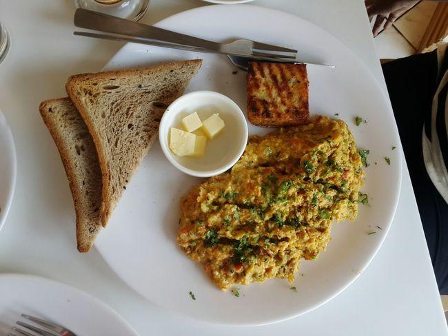 Eggs... Egg Breakfast Toast🍞 Breakfast Butter Scrambledeggs Top Perspective Breakfast Time