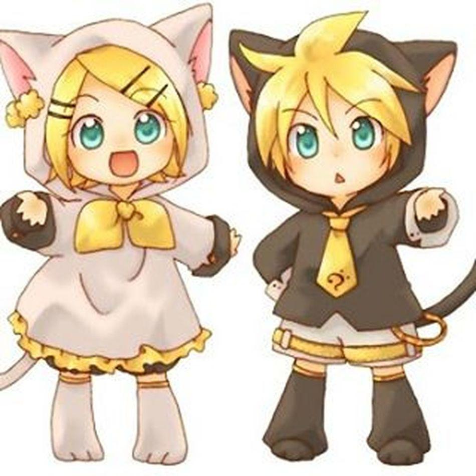 Anime KAWAII Neko Rin Len Vocaloid Animeinstagram Nekostagram Cute Chibi Chibineko