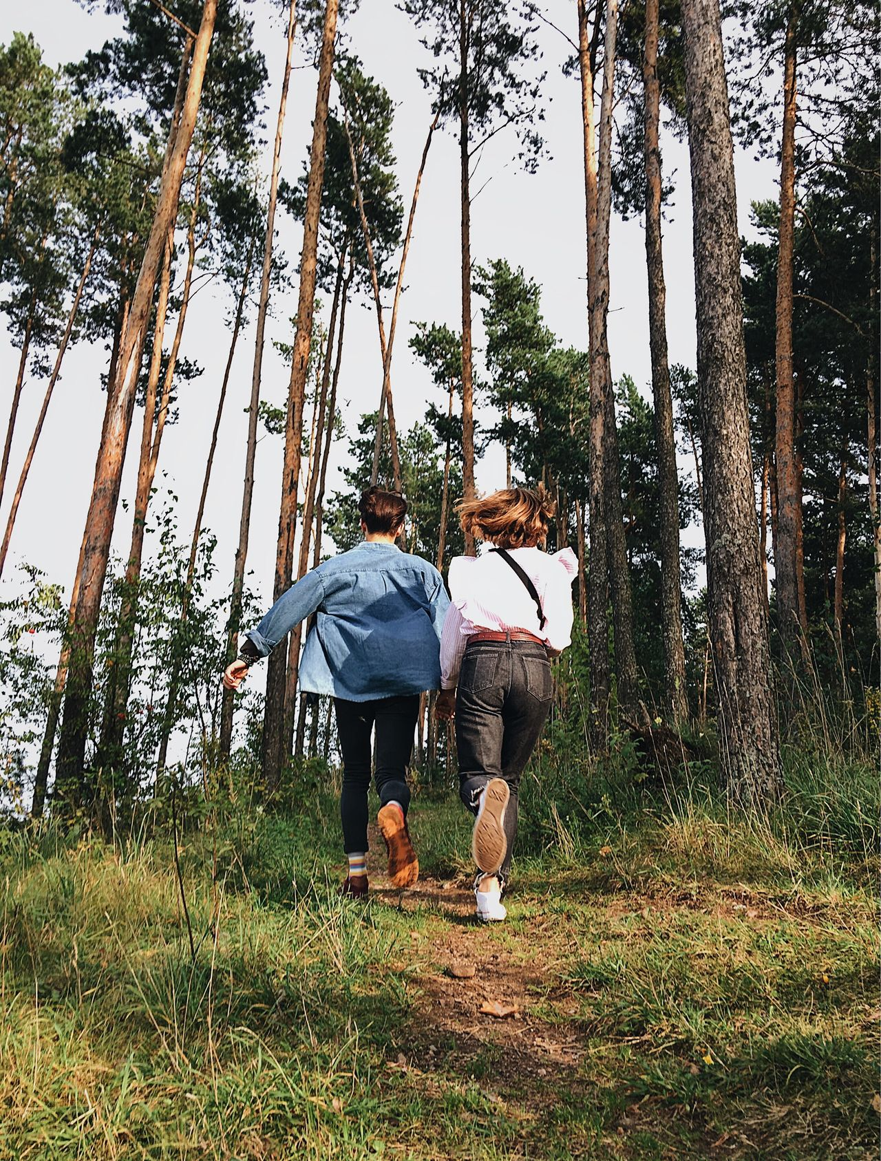 Be. Ready. For love of life and love for loved ones is the main thing and not only in 2018 😉 two people Tree heterosexual couple Tree trunk togetherness Nature forest full length Adult activity Adults Only outdoors Love enjoyment Couple day leisure activity Running bestoftheday Best EyeEm Shot