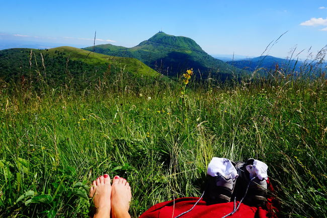Blue Sky Taking Photos Mountains Volcanoes Landscape Nature Walking Around Chainedespuys Auvergne Myfoot Enjoying The View Iloveauvergne Showcase July