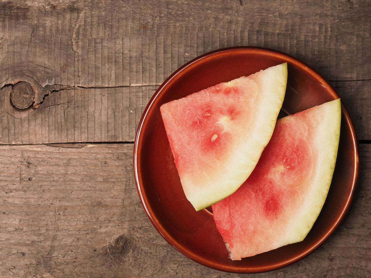Water melon on a plate Food Fresh Freshness Fruits Healthy Organic Plate Rustic Style Top View View From Above Vitamin Water Melon Wooden Table
