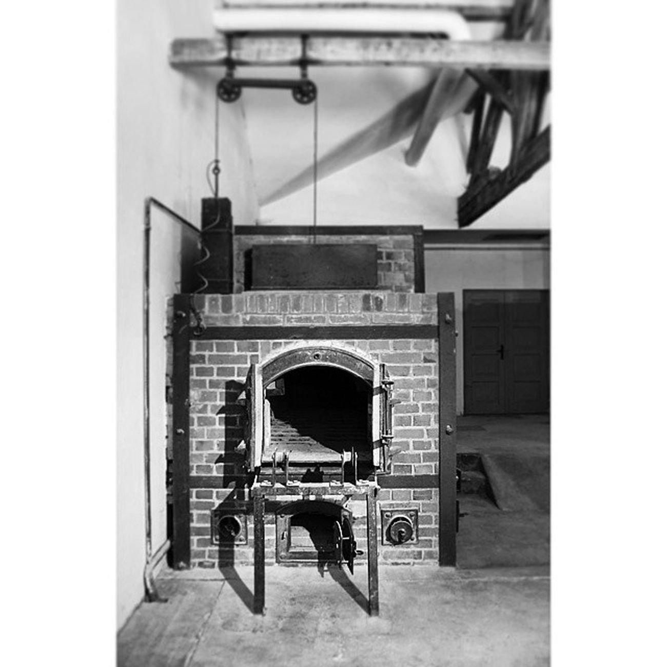 One of the Furnaces at the Crematorium Krematorium . Tour at the Dachau WW2 Concentration camp concentrationCamp. münchen munich, Germany Deutschland. Taken by my SonyAlpha dslr a57. معتقل معسكر محرقة ميونخ المانيا