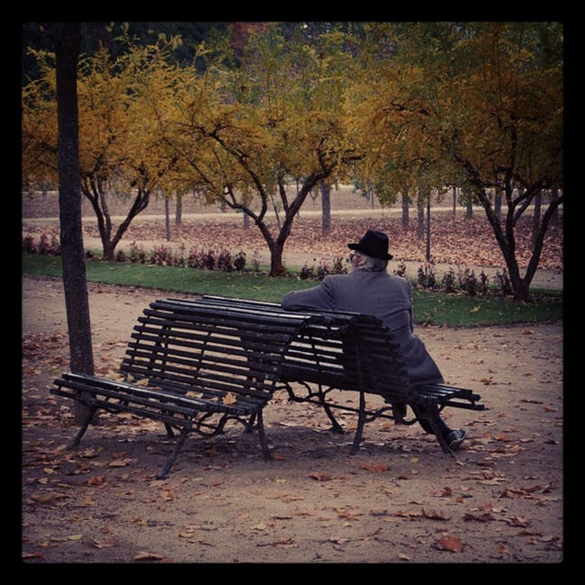 A man in Aranjuez Streetphotography
