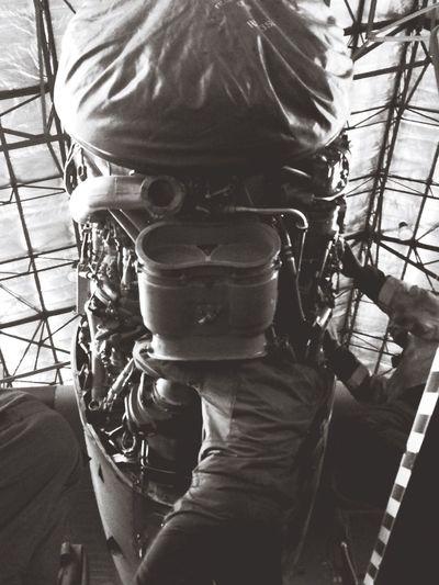 Mechanic Aircraft Engine Rolls Royce Love My Job Lovemyjob head in an engine! Transall since 1963 ! <3