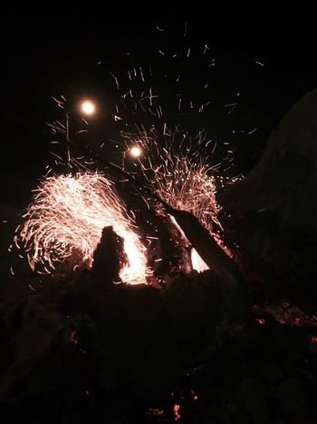 Communication Night Glowing Motion Celebration Exploding Illuminated Event Sparks Long Exposure Low Angle View Outdoors Firework Sky Fire