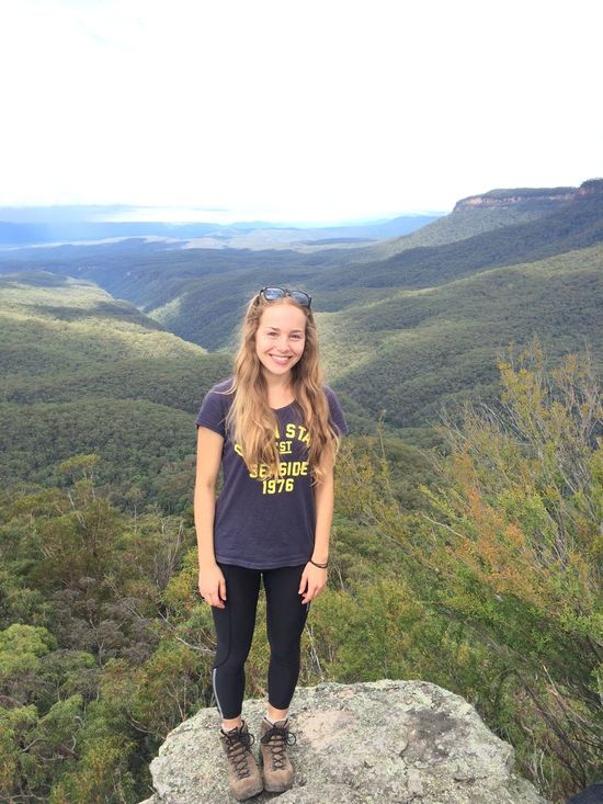 On top of the ruined castle! Hiking Adventures Bluemountains Girl Throwback