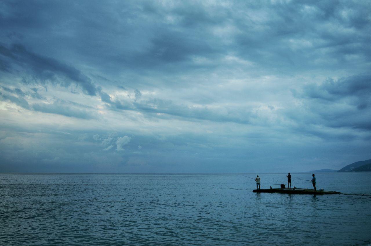 5:10 am. Sunrise. Cloudy Fishermen Atmospheric Capturing Freedom Melancholic Landscapes Blue Wave