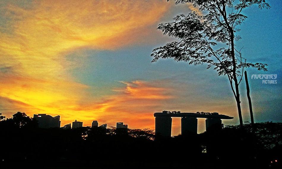 -evening shades- Marina Bay Singpore♥Beautiful Sunset Lovers Cityscapes