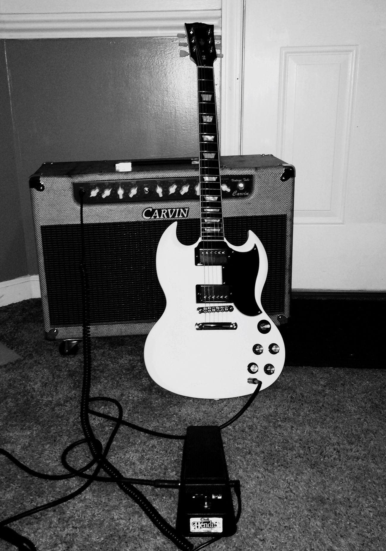 Rock'n'Roll Carvin Gibson SG Jimmy Hendrix Wah Vintage Music Musician