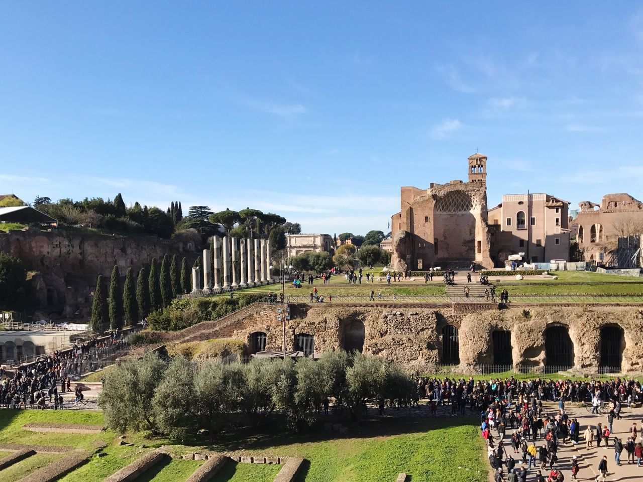Rome Piazza Piazza Del Colosseo History Old Ruin Architecture Built Structure The Past Ancient Sky Travel Destinations Building Exterior Large Group Of People Travel Real People Ancient Civilization Sunlight Tourism Tree Outdoors Leisure Activity Men Bad Condition