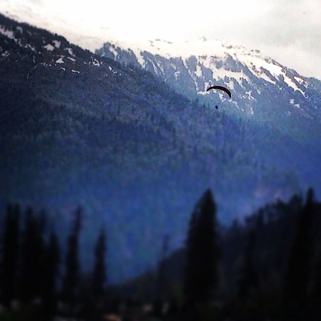 Himalayas Snow Paragliding Amazing Adventure Mountains