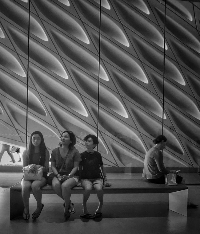 Monochrome Photography Family Architecture The Broad Museum Bench Shapes And Forms Museum