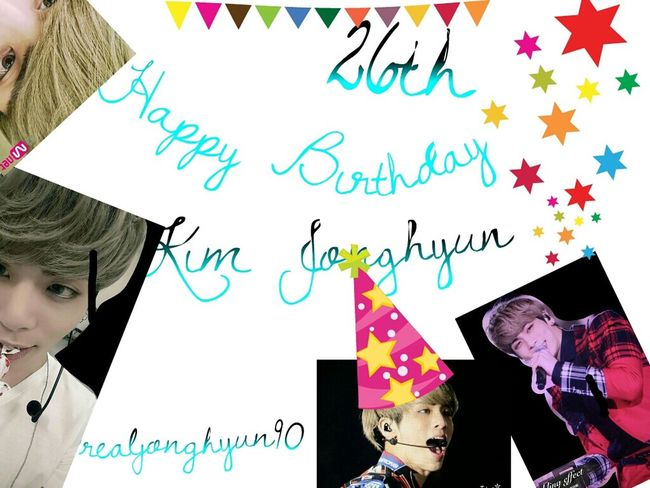 Happy26thJonghyun 26thBlingDay