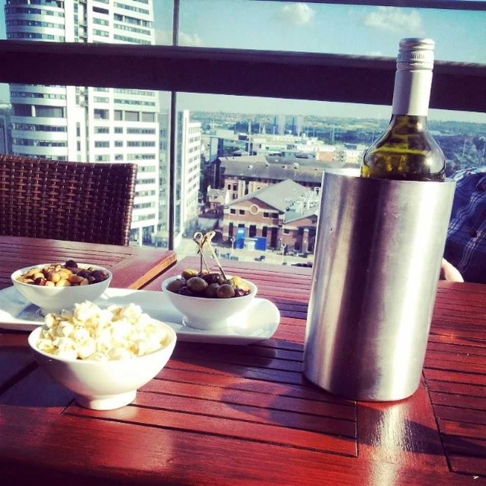 Drinks and food at skyline in leedsExpensive Drinks Workies