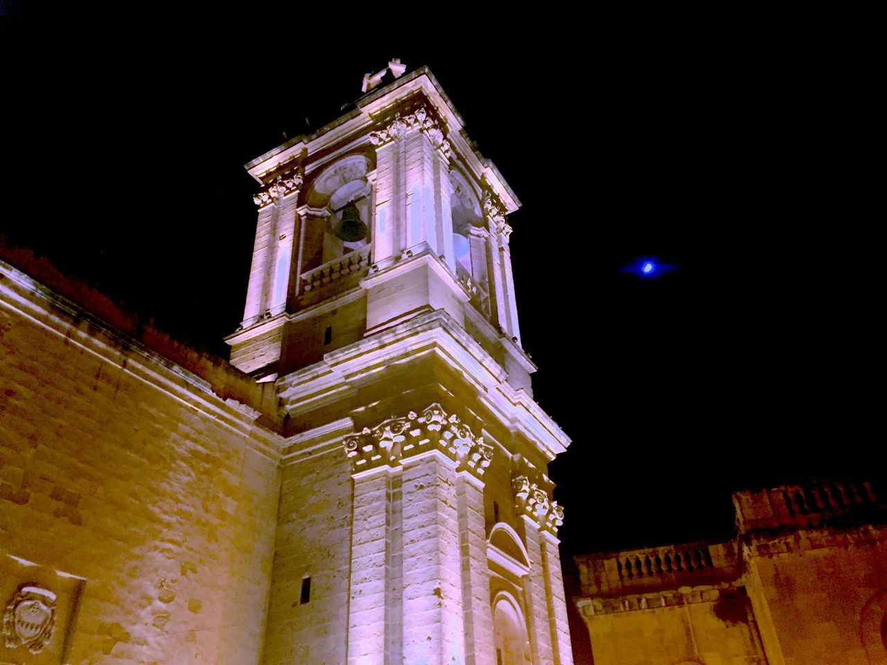 Architecture Building Exterior Built Structure Church At Night  Historic Illuminated Night No People