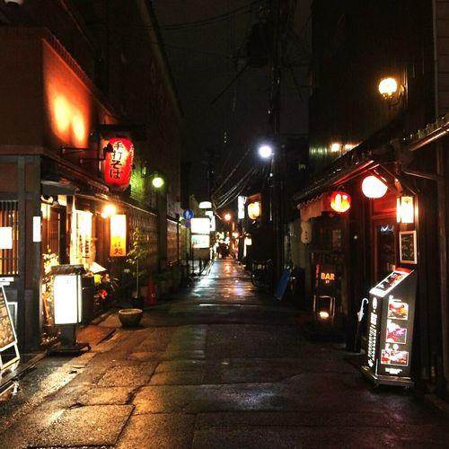 Japan Photography Kyoto, Japan Night Photography Night Life Lights Gion Street Light