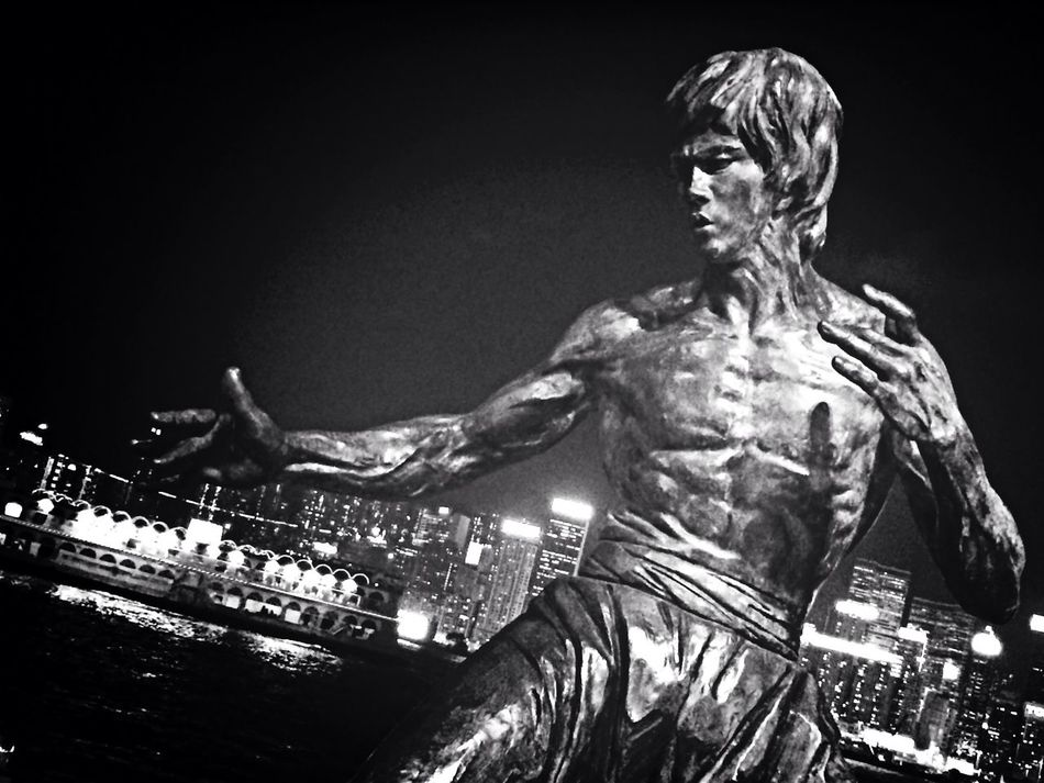 Brucelee Martial Arts Hong Kong Black & White