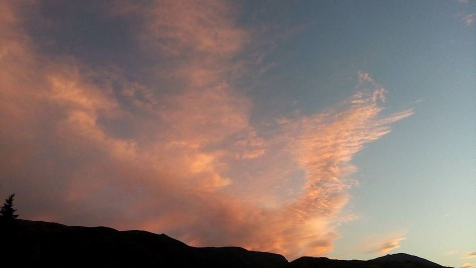 Sunset N=° 08 Silhouette Sky Tranquility Beauty In Nature Landscape Cloud Nature Cloud - Sky Sunset Sun Suneffects Orange Sky
