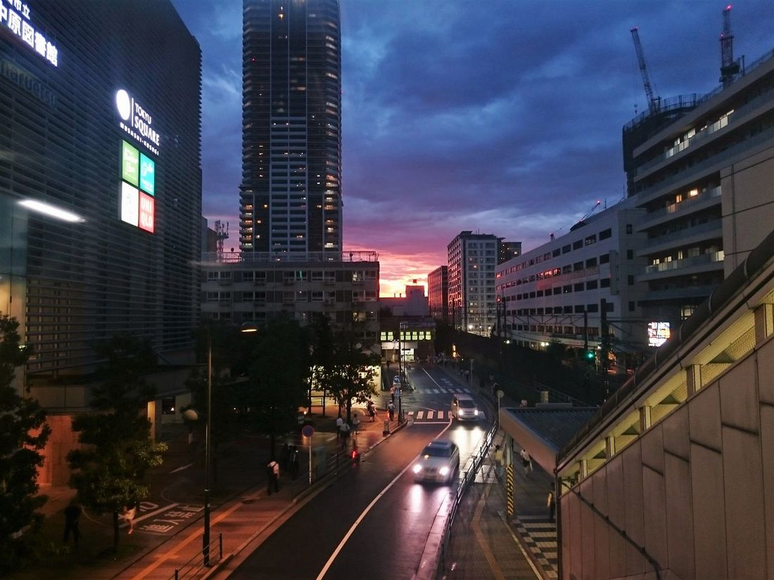 Building Building Exterior City City Life City Street Cloud Cloud - Sky Colors Reflections And Shadows Road Sky Sunset The Sky After Rain The Sunset Sky Typhoon Pass Ultimate Japan Colour Of Life